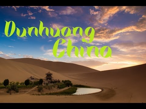 Dunhuang, China the Desert Oasis and using a Graduated ND Filter