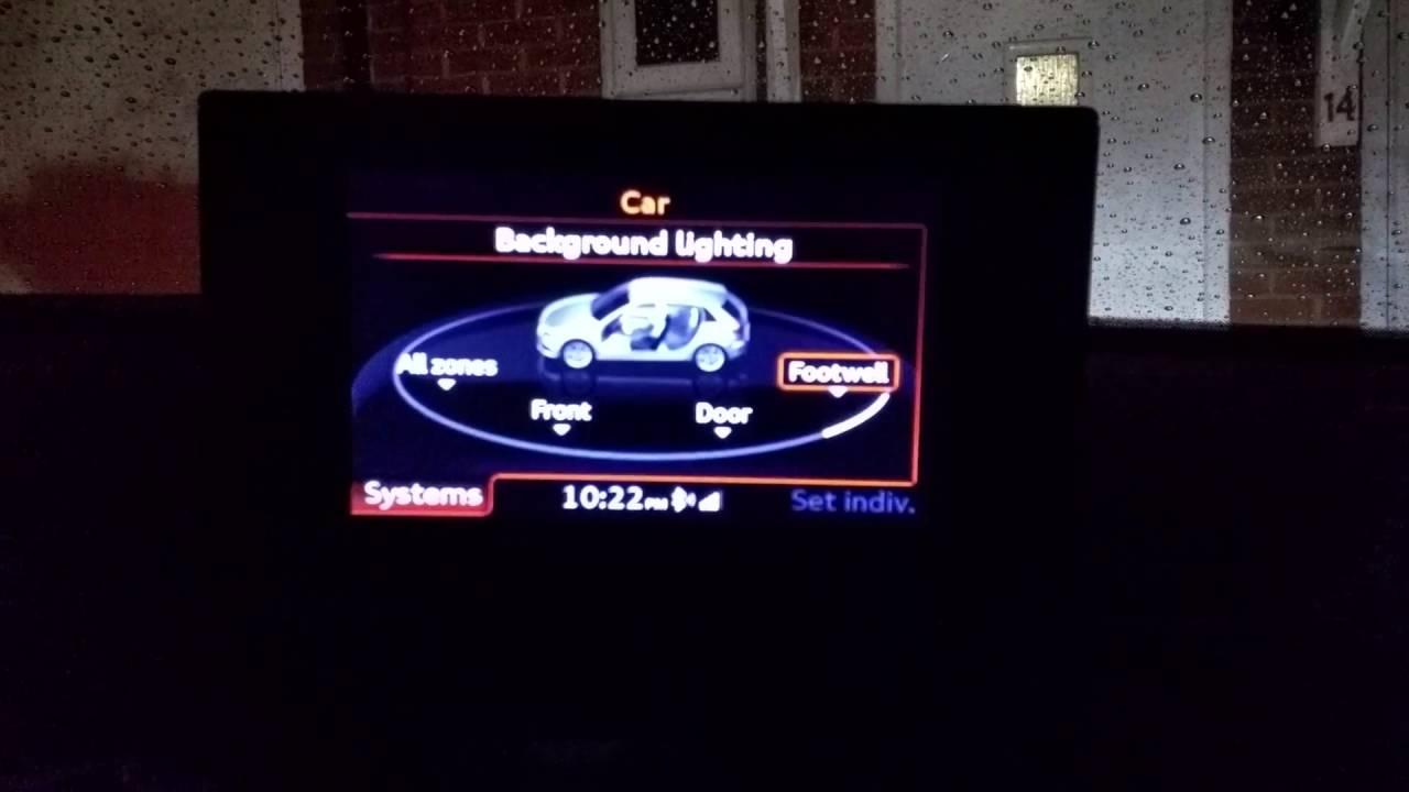 Footwell lighting working on MMI Audi a3 8V
