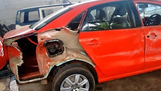 Volkswagen Vento accident car