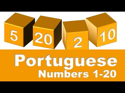 Portuguese Numbers 1-20