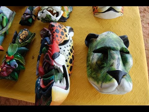 Boruca Masks Incrediable artwork of the Boruca tribe of Costa Rica