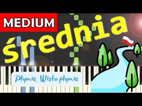 🎹 Płynie Wisła, płynie - Piano Tutorial (średnia wersja) 🎹