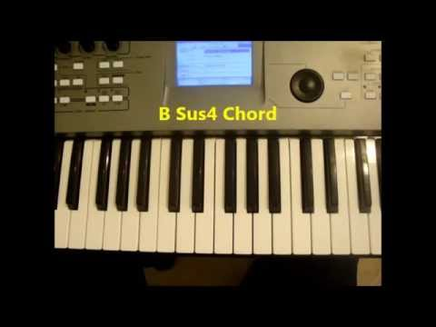 How To Play B Sus4 Chord On Piano Youtube