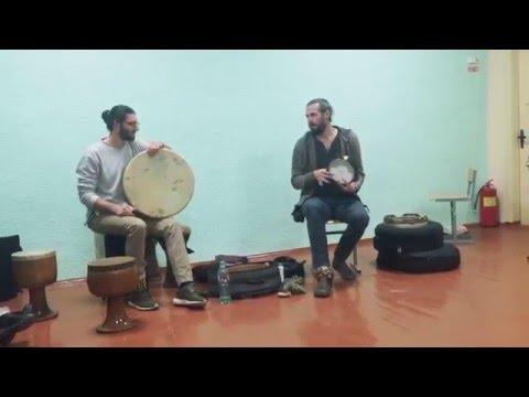 Kirill Osherov & Andrey Tanzu. Frame drums & percussion.