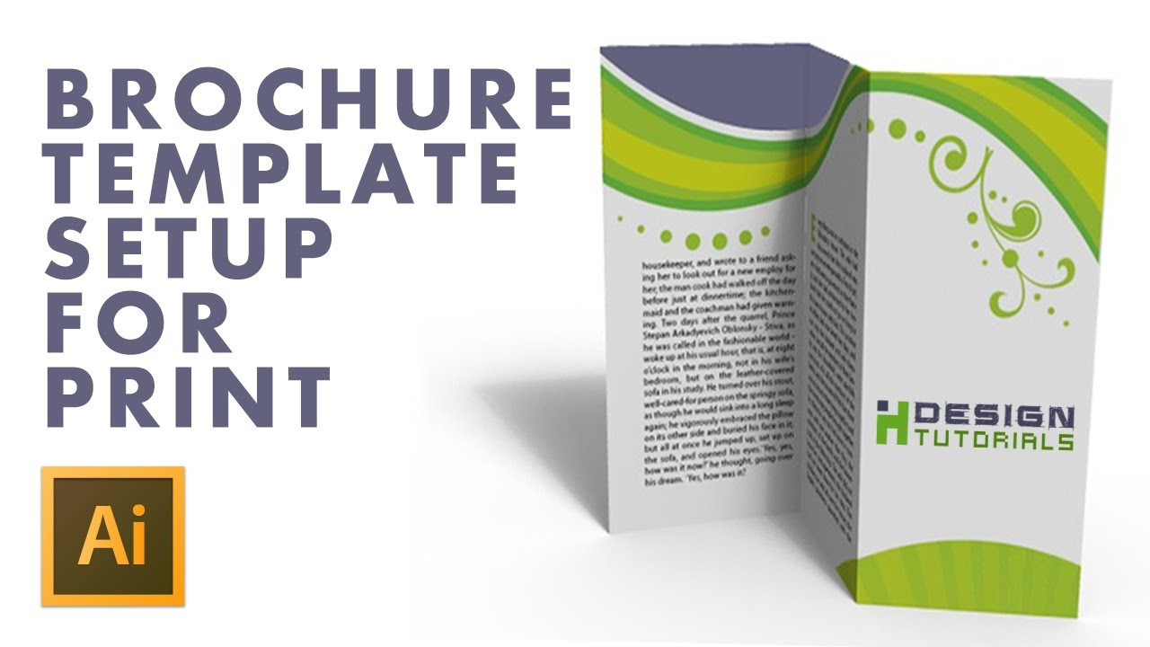 brochure illustrator template - brochure template setup for print in adobe illustrator