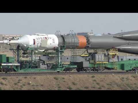 The Expedition 48-49 Soyuz Rocket Comes Together and Moves to Its Launch Pad