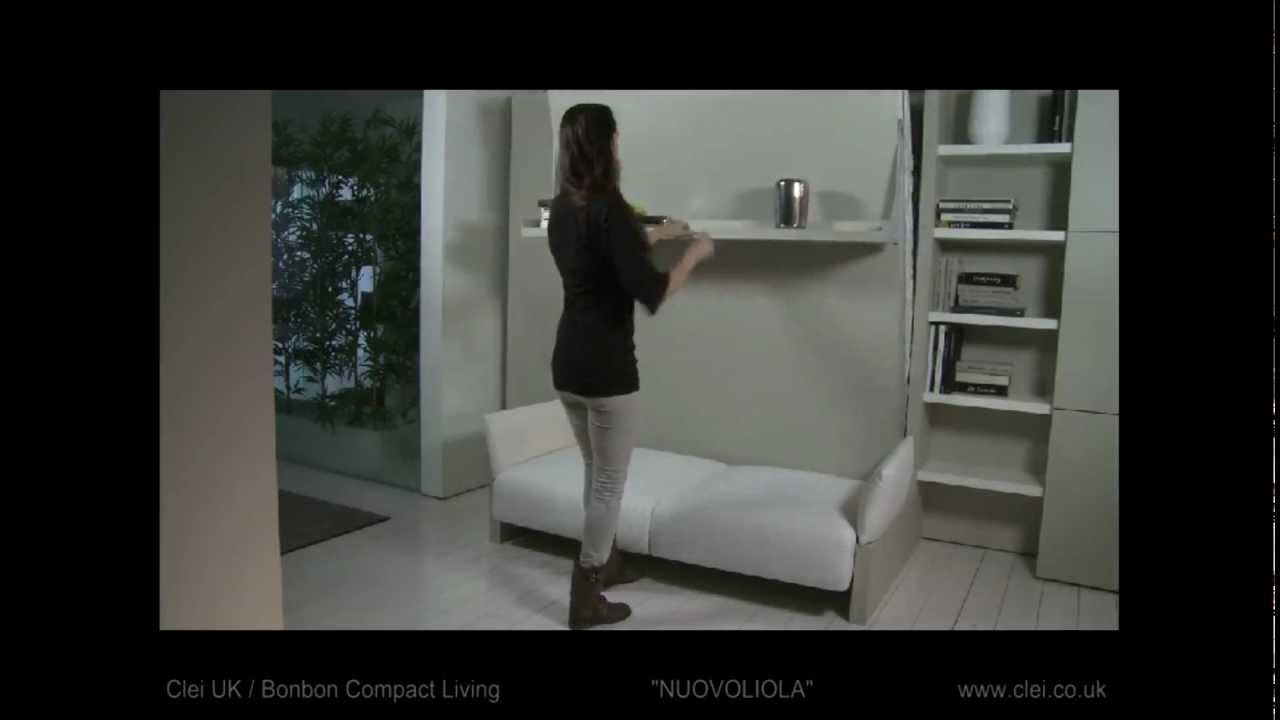 Clei Uk Nuovoliola Sofa Wall Bed Unit Youtube