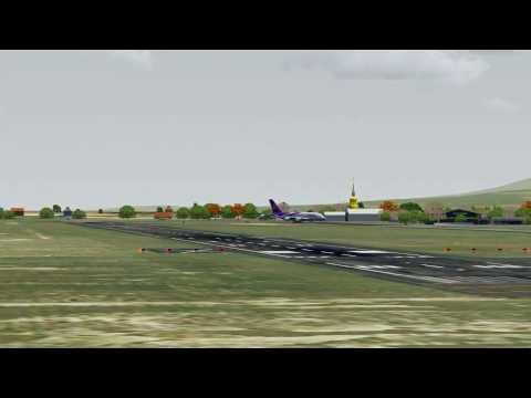 [FSX HD] Thai Airways A380 Landing at Chiang Mai Airport