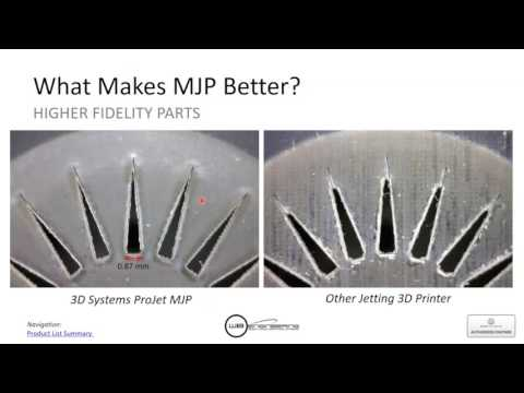 Professional Engineering quality Prototyping with Multi Jet Printing MJP