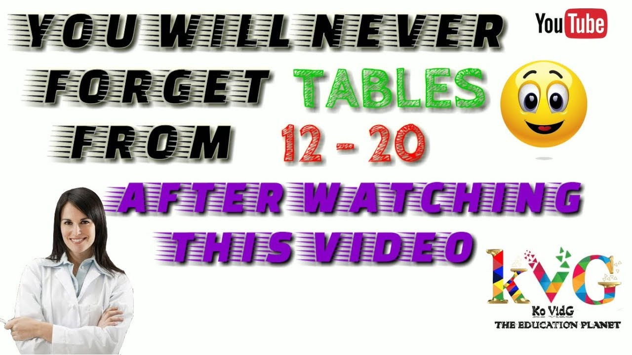 Learn Tables Smartly From 12 To 20 Youtube