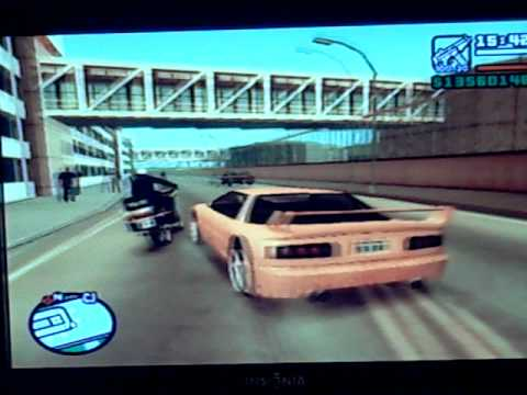 GTA: SA Driving around in a YELLOW Sports car