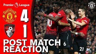 Lindelof, Herrera & Solskjaer Reflect on Bournemouth Win | Manchester United 4-1 Bournemouth