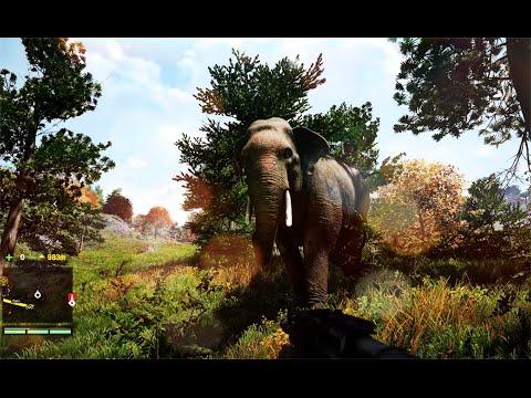 FAR CRY 4 Gameplay : Animal Wildlife ( Elephant Ride + Hunting )