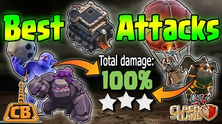 BEST TH9 ATTACKS - 4-Town Hall 9 War 3 Star Strategies - Clash of Clans - GoHoBo GoBoLaLoon