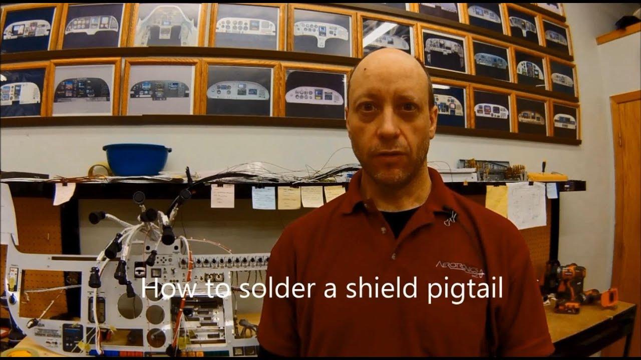 aerotronics solder a shielded wire  [ 1280 x 720 Pixel ]