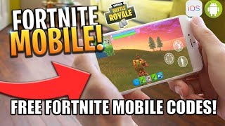 HOW TO DOWNLOAD FORTNITE BATTLE ROYALE ON MOBILE - iOS & Android FREE CODES SIGN UP - FREE CODES