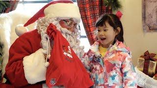 산타할아버지께 선물을 받았어요~! 산타하우스에 간 라임 | 에버랜드 크리스마스 축제 체험 LimeTube & Toy 라임튜브
