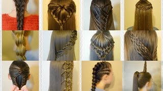 Top 12 Hairstyles Countdown Compilation! Princess Hairstyles 2016