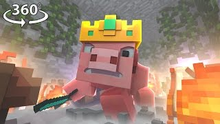 Pigs Are Taking Over Minecraft AGAIN! - 360° Video Minecraft