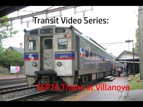 TVS-SEPTA Trains: Villanova Regional Rail Station At Peak Hour (Amtrak Cameos!)