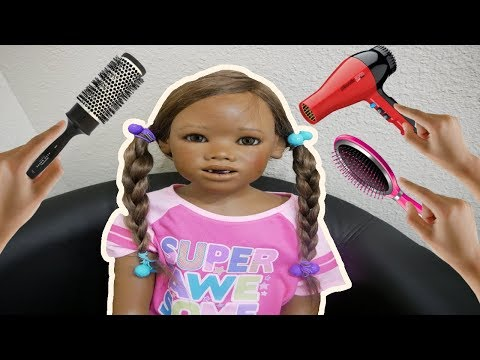 Silicone Baby Big Sister Hair Makeover Again + Reborn Kid Baby Doll Malia