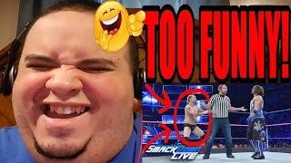 james ellsworth vs aj styles special guest referee dean ambrose smackdown live reaction