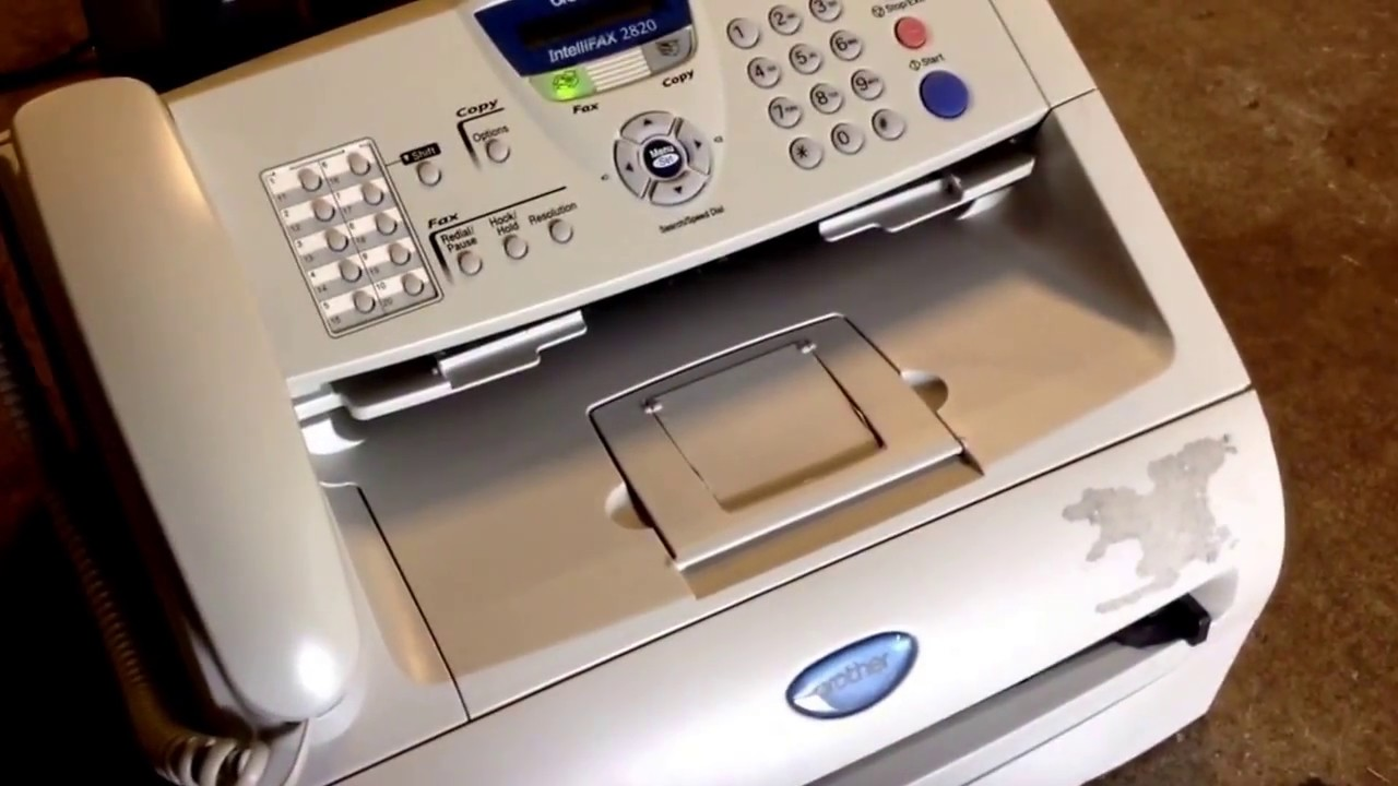 how to do a printing test on a brother intellifax 2820 youtube rh youtube com Brother 2820 Cartridge brother intellifax 2820 user manual