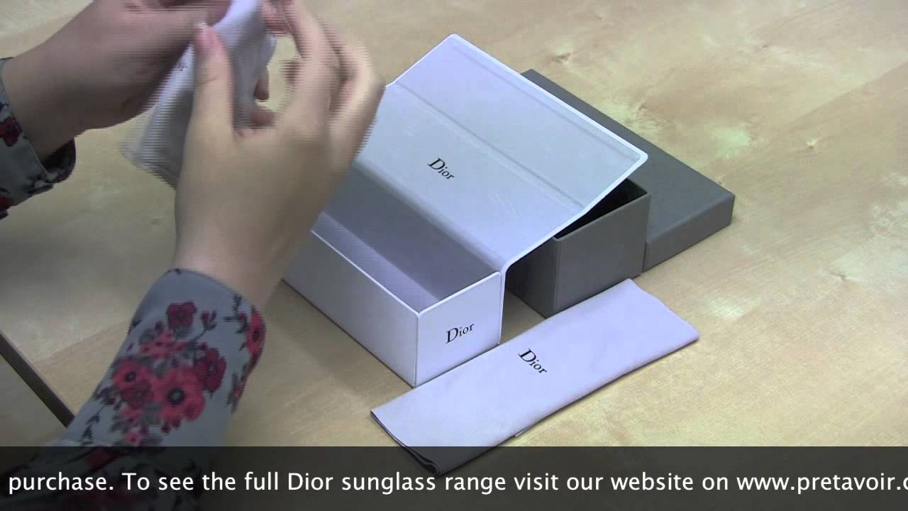 4ee392d0ce3 Dior Sunglass Unboxing - YouTube
