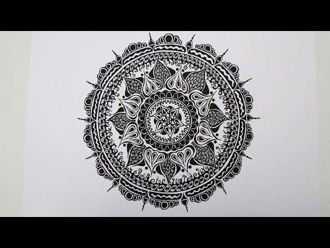 Zentangle®-Inspired Mandala speed drawing
