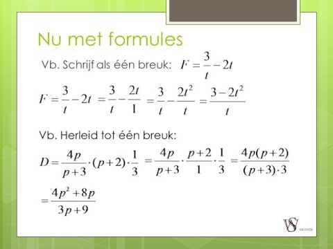 Samenvatting Havo wiskunde A h11 Formules en variabelen