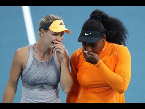 Serena/Wozniacki Vs. Larsson/Dolehide | 2020 Doubles ASB Classic Second Round | WTA Highlights