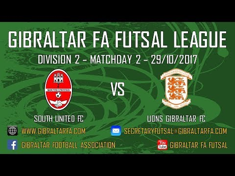 Division 2 - South United FC 7 vs 2 Lions Gibraltar FC - 29/10/2017