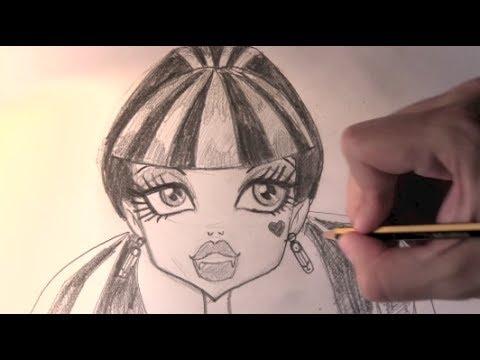 Como Desenhar A Draculaura De Monster High Passo A Passo Youtube