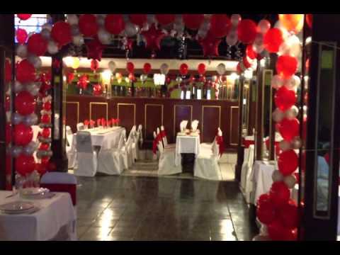 Vlog # 30 (( decoración con globos para xv años en rojo y plata ...