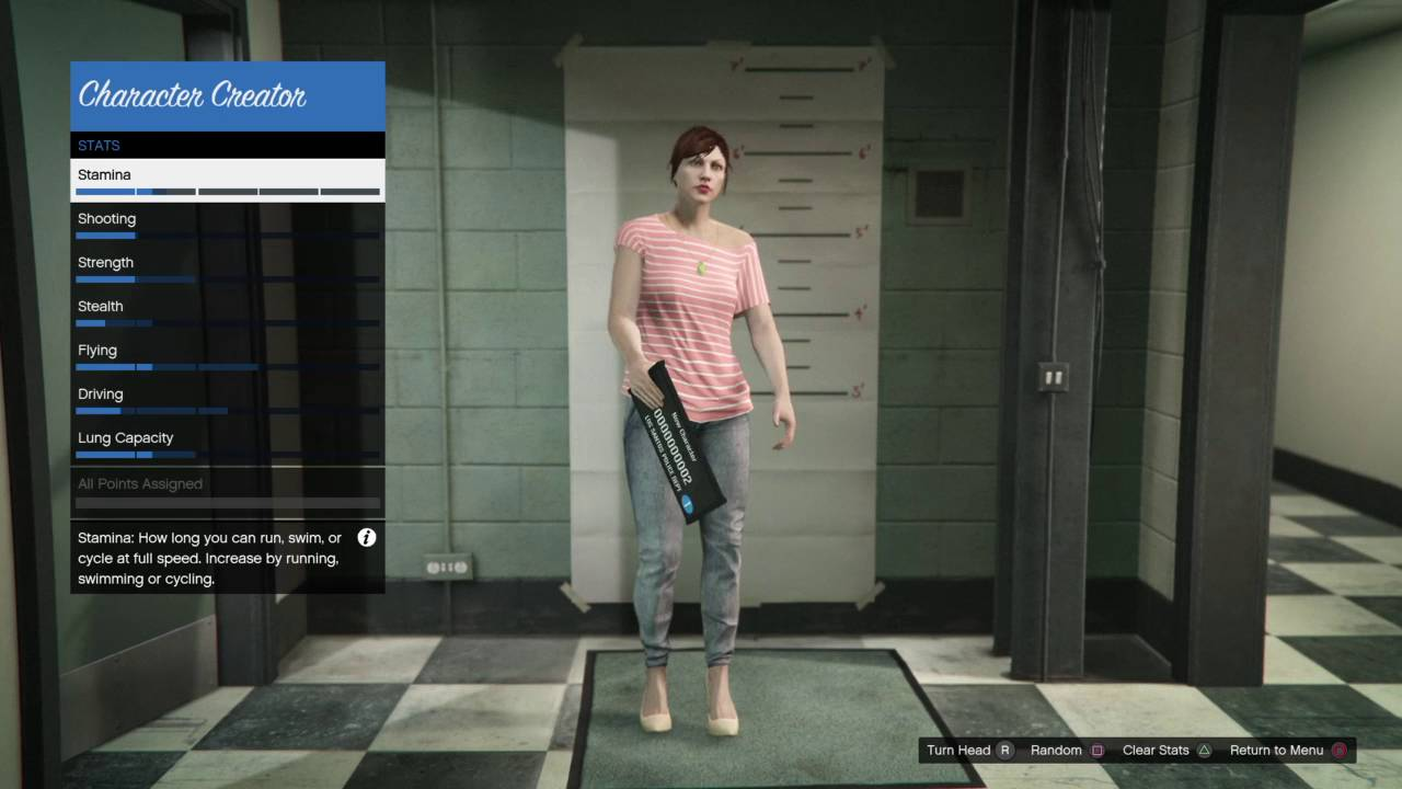 gta v character creation best stats