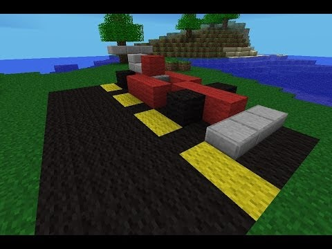 How To Make A Race Car In Minecraft Pe Youtube