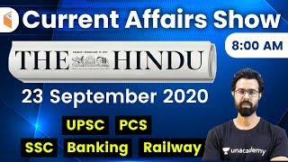 8:00 AM - Daily Current Affairs 2020 by Bhunesh Sharma | 23 September 2020 | wifistudy