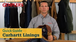 Quick Guide to Carhartt Linings to Select the Best Workwear for You | Workwear Tips from GEMPLER'S