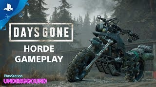 Days Gone - Horde Gameplay | PlayStation Underground