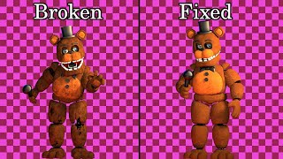 Fixed VS. Broken  FNAF 6  FFPS Animatronics #2 [SFM FNAF]