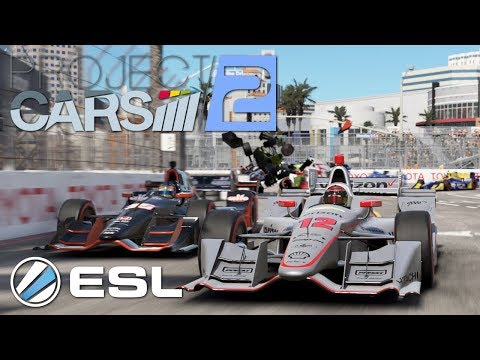 Project Cars 2 The Most Crazy ESL IndyCar Long Beach Race 2/2
