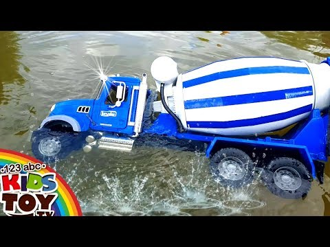 Thumbnail: Bad boys Toys cars dive in water MANY LARGE TOY CARS For fun) BRUDER Cars for children