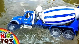 Bad boys Toys cars dive in water  MANY LARGE TOY CARS  For fun) BRUDER Cars for children