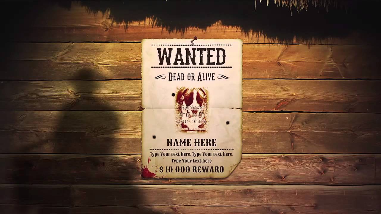 Wanted Poster Template Youtube – Most Wanted Posters Templates