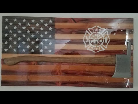 DIY Wooden US Flag For Fireman - A Gift For My Son In Law - USA #woodenusflag