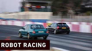 Robot Racing is an event hosted by the City of Cape Town and Killarney International Raceway. The weekly event aims to get Cape Town's illegal street racers off the city's roads and into a safer, controlled environment.  Click here to subscribe to Eyewitness news: http://bit.ly/EWNSubscribe  Like and follow us on: http://bit.ly/EWNFacebook AND https://twitter.com/ewnupdates  Keep up to date with all your local and international news: www.ewn.co.za    Produced by:  Cindy Archillies