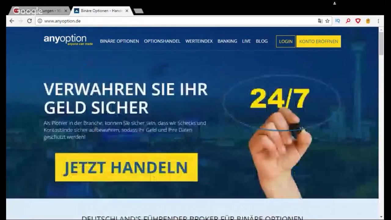 anyoption - binäre optionen mit 16 jahren viel geld verdienen