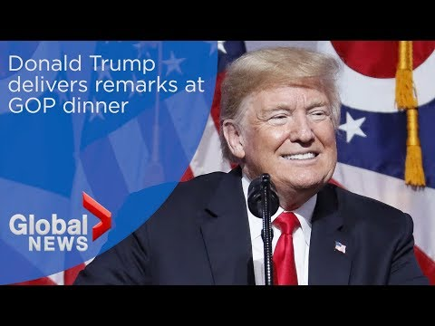 Donald Trump takes aim at Democrats in remarks at GOP dinner