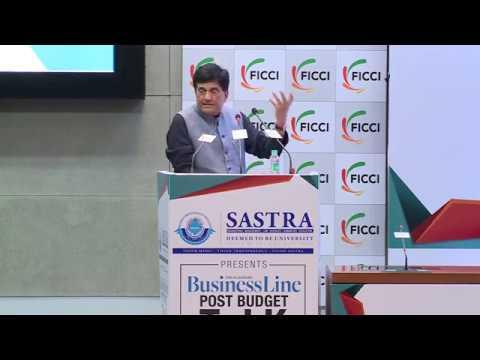 Minister Piyush Goyal at Post #Budget2018 Talk at FICCI