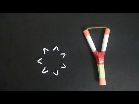 Amazing powerful slingshot / catapult | powerful slingshot | paper craft | DIY